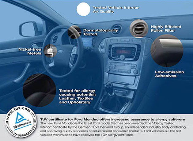 Ford Mondeo也獲得TUV的認證。 Ford
