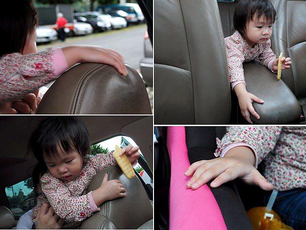 活潑好動的小朋友,在車子停駐時,也很喜歡看看老爸愛車上有哪些好玩的東西,此時就容...
