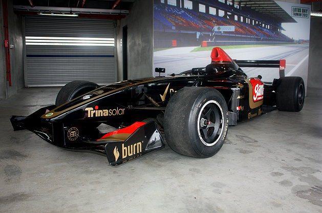 現場也展示Lotus賽車。 記者林和謙/攝影