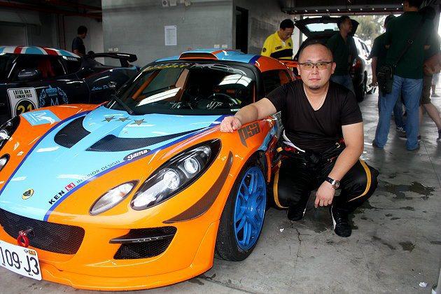 Ken是Lotus台灣車友會會長。 記者林和謙/攝影