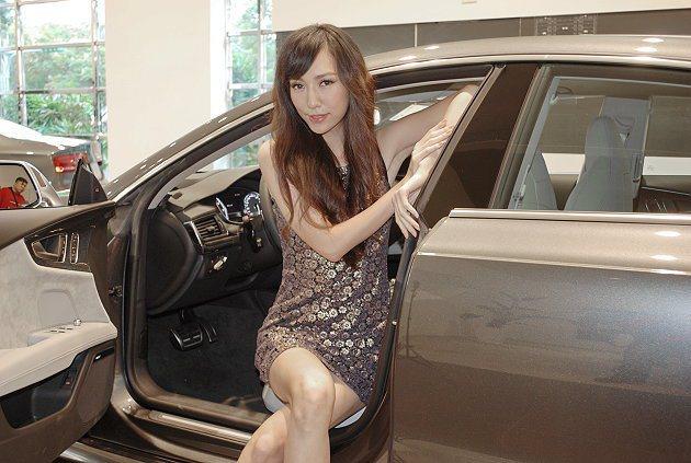 Model邱偲亞。 記者趙惠群/攝影