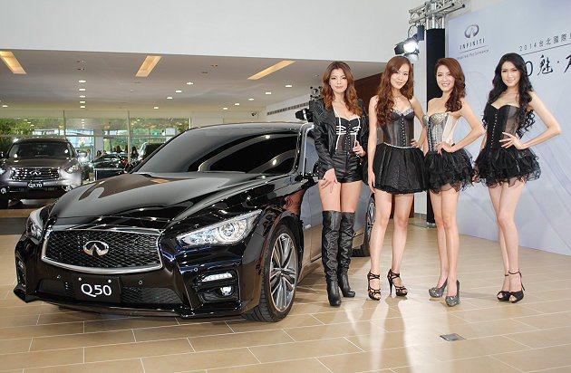 Infiniti油電複合動力房車Q50抵台。 記者趙惠群/攝影