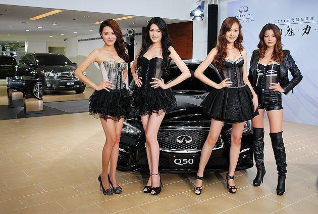 Q50在台北車展之前提前預演。 記者趙惠群/攝影