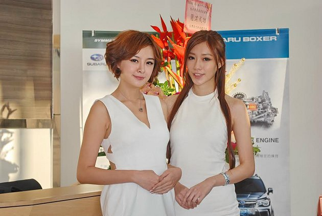 Subaru車展接待。 記者趙惠群/攝影