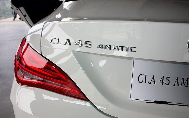 首度在台發表的CLA 45 AMG 4MATIC,車迷們可親睹其風采。 記者林和...