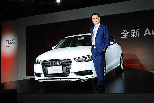 台灣奧迪總裁邱山祥表示,進口豪華小車市場具高占有率為各品牌兵家必爭,A3 Sed...