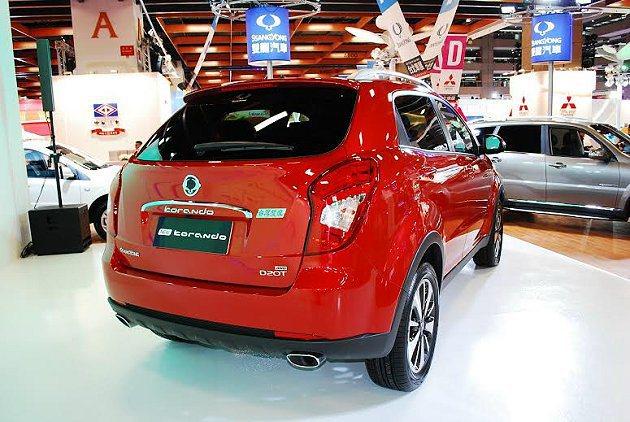 Korando尚未送車檢認證,預計2014下半年才會正式發表上市。 記者趙惠群/...