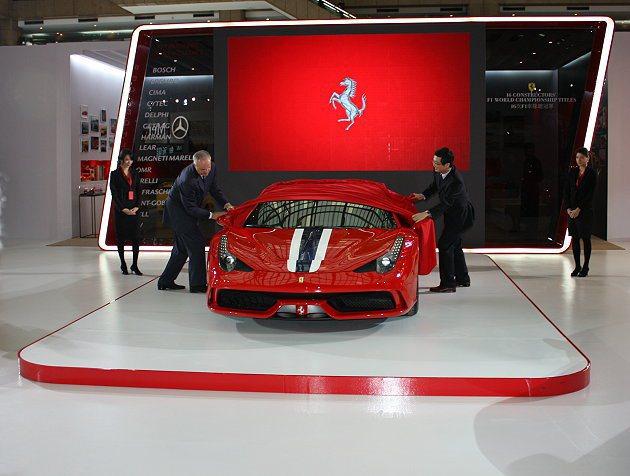 Ferrari 458 Speciale首次在台亮相。 記者林和謙/攝影