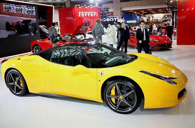 Ferrari展區還展出458 Italia與458 Spider、F12 Be...