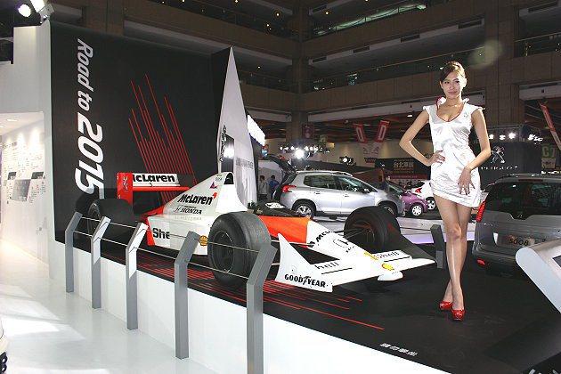 1989年奪得F1車隊及車手雙料冠軍的MP4/5。 記者林和謙/攝影