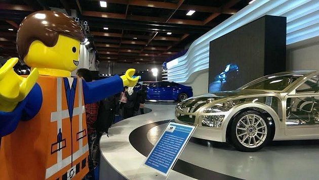 「樂高玩電影」主角艾密特於Subaru展區欣賞「BRZ Architecture...