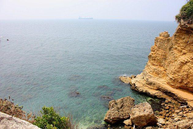 海角咖啡旁就可看到美麗海景。 記者林和謙/攝影