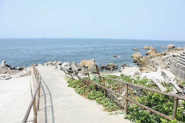 到柴山漁港後可看到壯觀海景。 記者林和謙/攝影