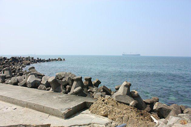 柴山的美麗海景一隅。 記者林和謙/攝影
