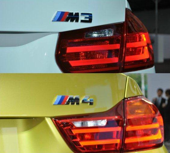車尾各自的銘板。同時可看出M3/M4的尾燈稍有不同 記者許信文/攝影