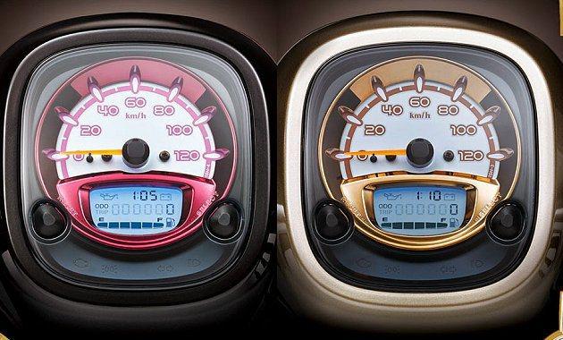 多功能液晶儀錶板上金色與紫色的金屬光環還有反射光澤。 YAMAHA提供
