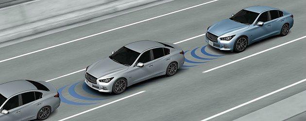 Q50搭載世界首創的PFCW車輛追撞預警系統,完整地守護車主的行車安全。 In...