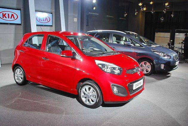 國產組裝KIA雙車提前亮相,森那美起亞預計10月開始販售。 記者趙惠群/攝影