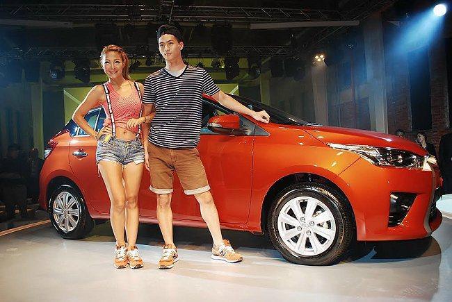 全新Yaris車格放大,全新造型更趨向時尚與運動風。 記者趙惠群/攝影