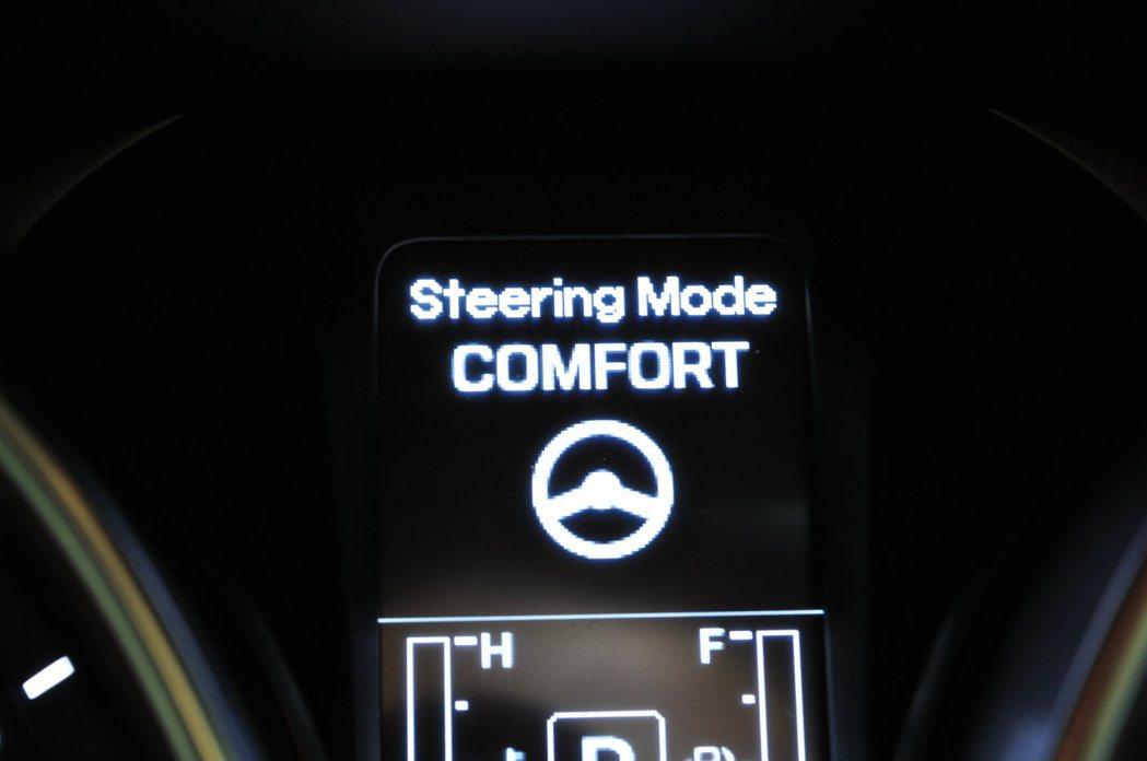 Flex Steer三種模式(NORMAL、COMFORT、SPORT)可顯示在...