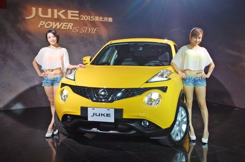 Nissan跨界跑旅Juke2015年式改款,仍祭出90萬以下的超值價全力搶市,...