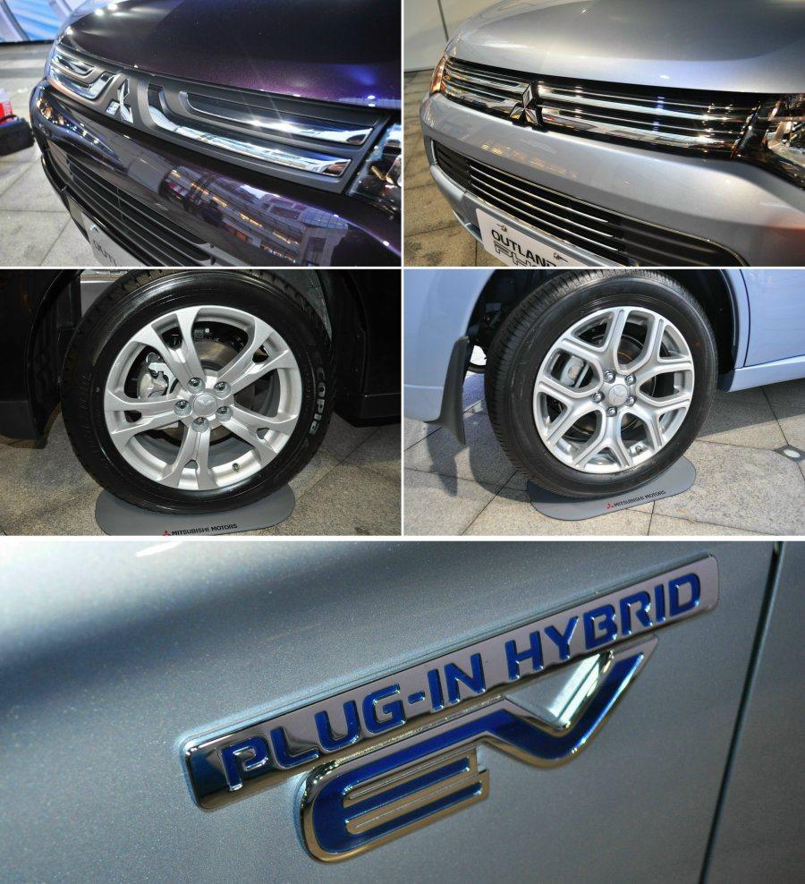 汽油版與PHEV外觀差異主要在水箱罩、輪圈以及「PLUG-IN HYBRID」專...
