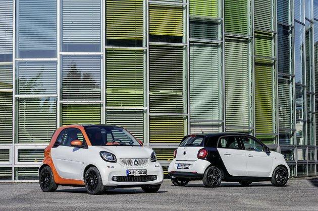 smart今年將推出全新世代的fortwo和forfour兩款新車,可能要等到下...