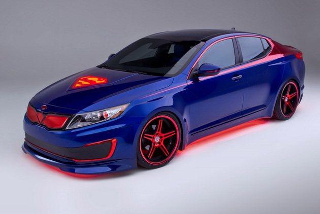 Kia Optima塗裝與配色運用了超人的元素 Kia