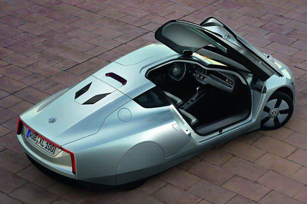 XL1具極低的重心,車高僅1153mm。 VW