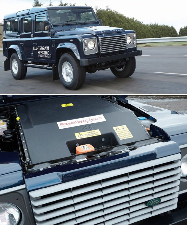 純電力可以創造零汙染,Land Rover在本次車展就推出一台純電動的Defen...