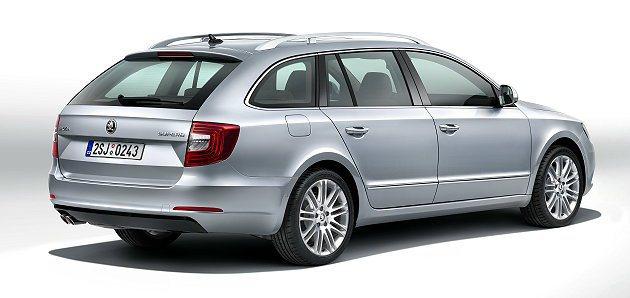 Superb Combi車型有較長的車尾,提供更大的置物空間。 Skoda