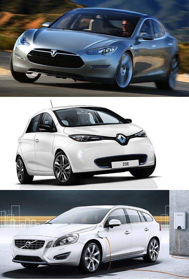 由上至下:Model S、Zoe與V60。 編輯部