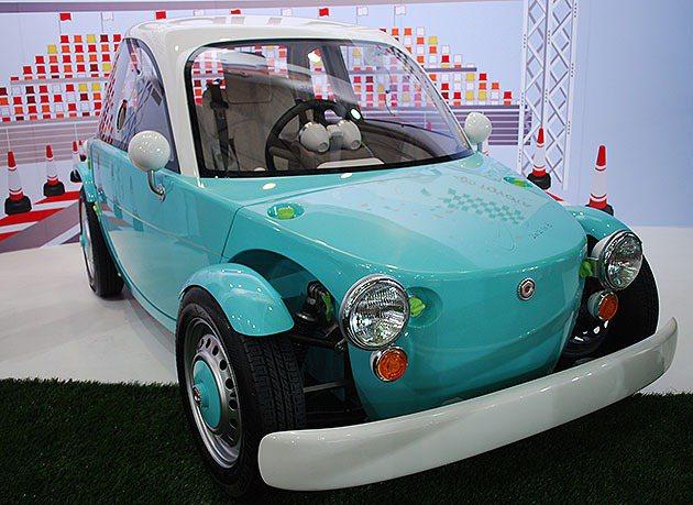 豐田中國為大陸親子共乘所開發一款融入多種卡哇伊元素的親子車Camatte。 趙惠...