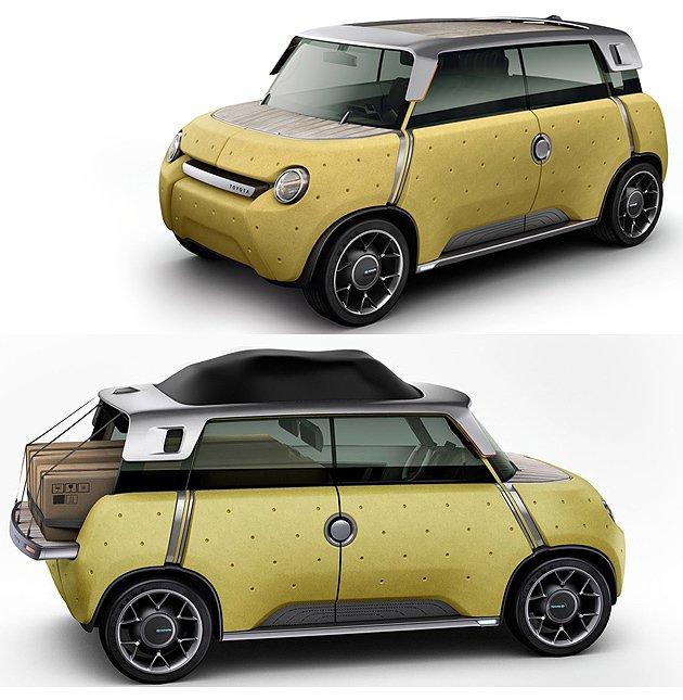 Me.We概念迷你先背車也可以將車尾的鈑件更動,就變成pick-up了~ Toy...