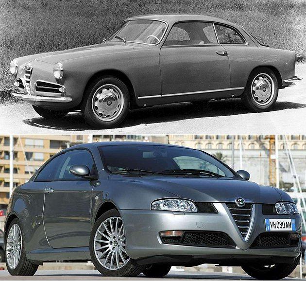 上為老Giulietta,下為2003年GT Alfa Romeo