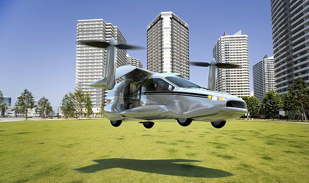 TF-X這款概念飛行車具備垂直升降功能。 Terrafugia