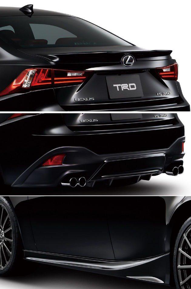 車尾的分流系統與側裙。 TRD