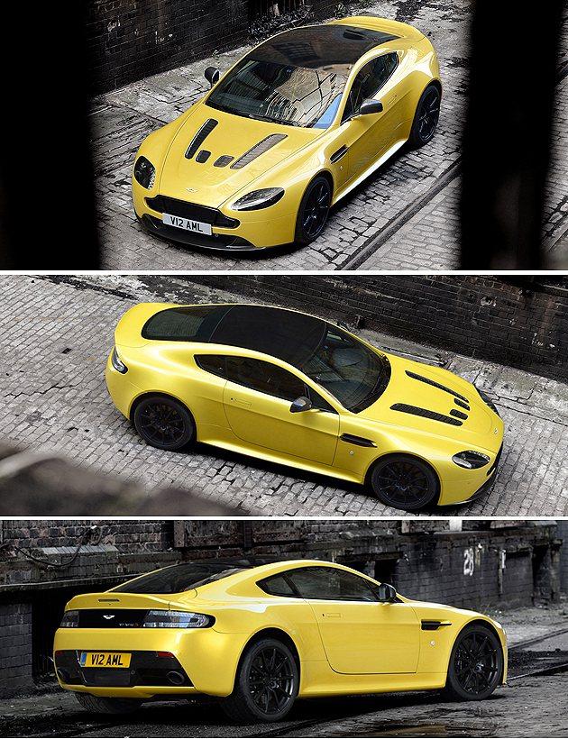 黑色車頂與引擎蓋上碳纖維散熱口,相當呼應。 Aston Martin