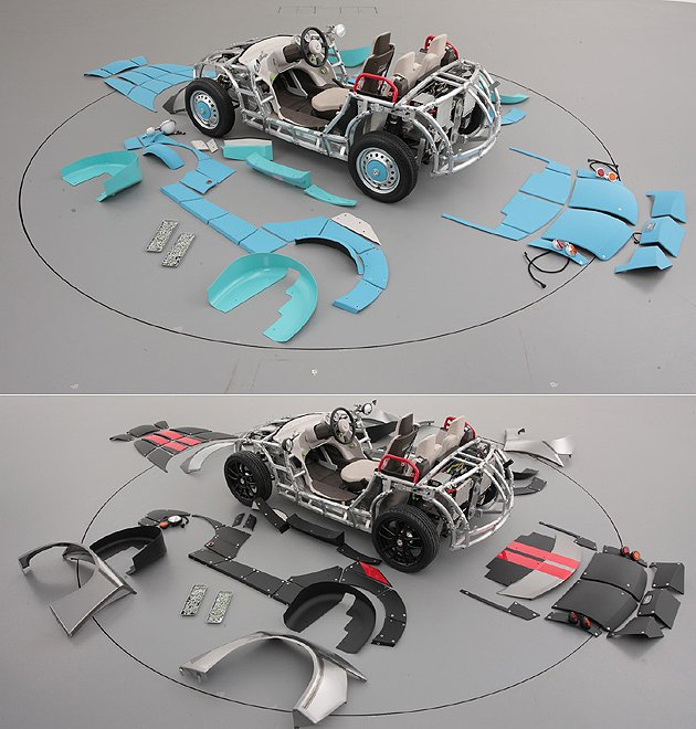 快拆快裝的鈑件設計。 Toyota