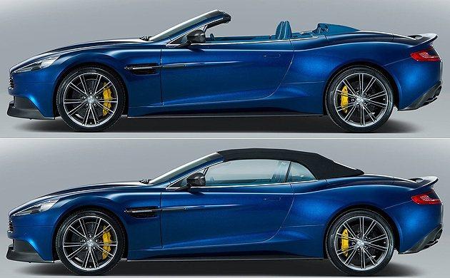 開關篷時間為14秒。 Aston Martin