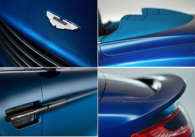 外觀車色也與內裝完美搭配。 Aston Martin