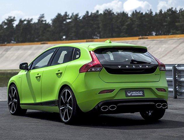 車尾運動感與設計感兼具。 Volvo