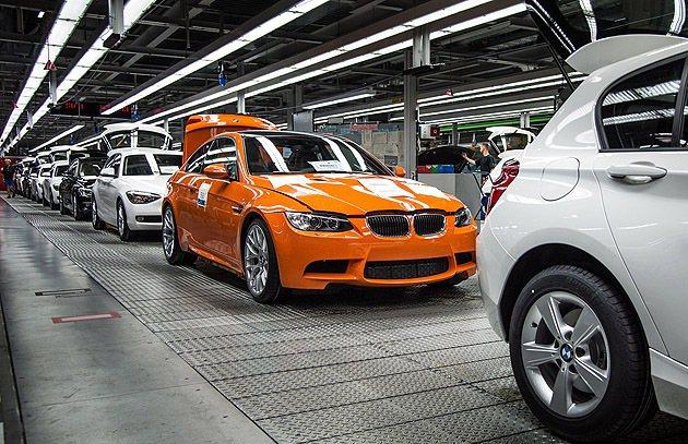 e92 m3 coupe在德國Regensburg工廠組裝。 BMW