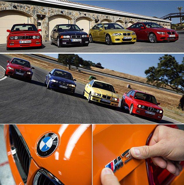 四個世代M3 Coupe,每一輛都是M Power結晶。 BMW