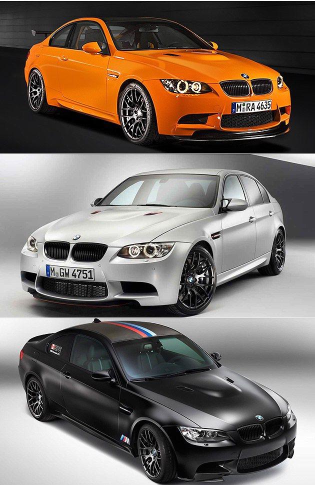 上至下:M3 GTS、M3 CRT、M3 DTM Champion Editio...