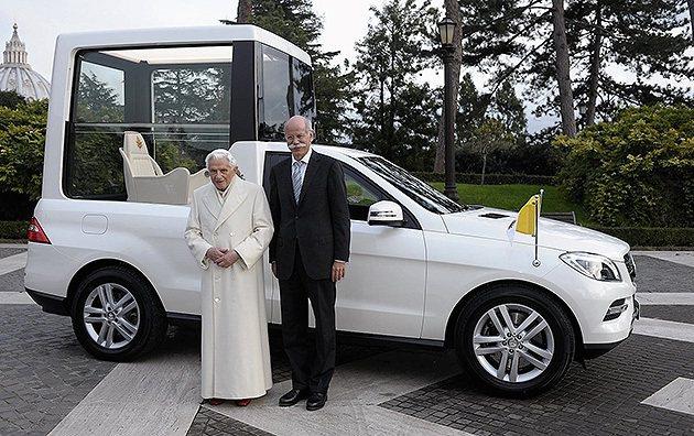 M-Benz為前任教宗本篤十六打造的M-Class M-Benz