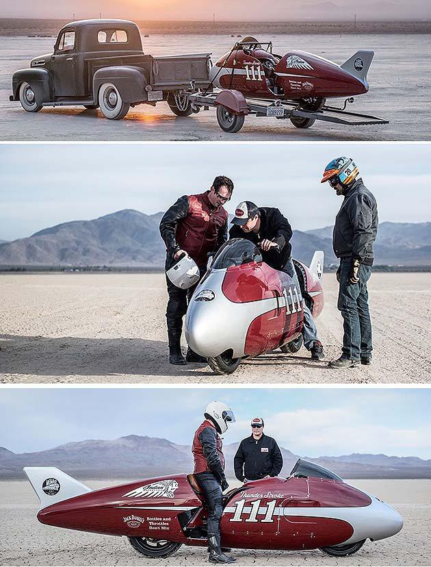 內容讓人想起超速先生抵達鹽地的情況。 Indian Motorcycle
