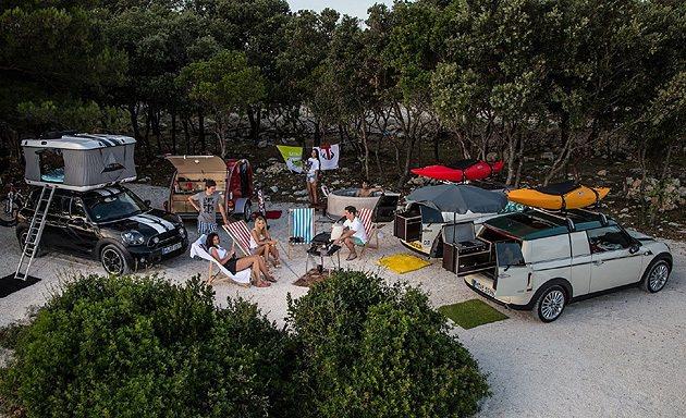 三款MINI Clubman露營概念車一起,到哪都可以。 MINI