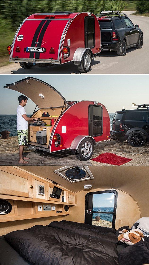 Clubvan Camper的露營拖車,功能完整如套房。 MINI