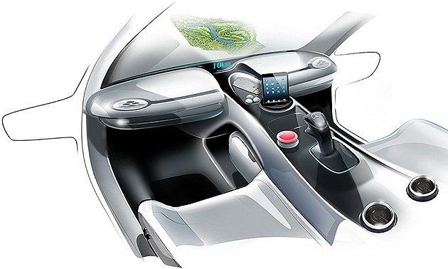 中間的搖桿控制方向,還能放置ipad  M-Benz